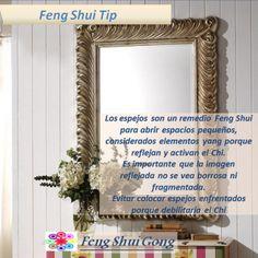 Consejo Feng Shui: Los espejos son un remedio muy utilizado en Feng Shui sobre todo para abrir simbolicamente áreas ausentes, también para dar amplitud a espacios pequeños.