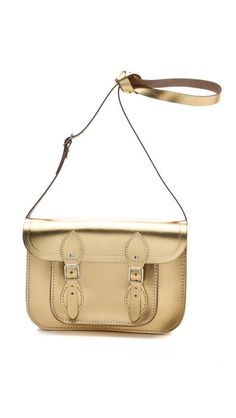 Follow #MaterialWrld and repin this image for a chance to win this bag! Cambridge Satchel Metallic Satchel