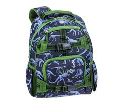 My son got this dinosaur backpack for starting kindergarten!  It's perfect for dino-loving girls too!  From Pottery Barn Kids, available in three sizes, plus a rolling option.
