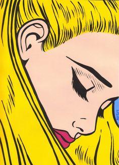 Blonde Comic Girl by turddemon on Etsy