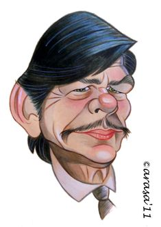 Charles Bronson (Caricature) Dunway Enterprises: http://dunway.com - http://masterpaintingnow.com/how-to-draw-everything?hop=dunway