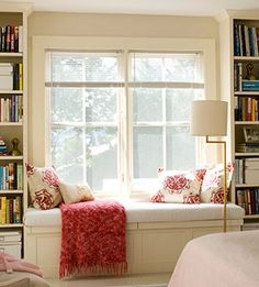 This would be my ideal space! Cool and bright in the summer! Warm and cozy in winter!