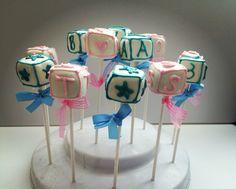 Baby Block Cake Pops | San Diego Cake Pop Shop