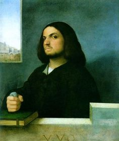 AD 1510 Portrait of a Venetian Gentleman by Giorgione, oil on canvas (76.2 x 63.5 cm) - National Gallery of Art, Washington, D.C.