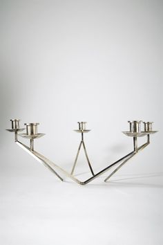 Sterling Silver Candelabra, anonymous, Sweden, circa 1960's | 41 cm x 15 cm | MODERNITY of Stockholm