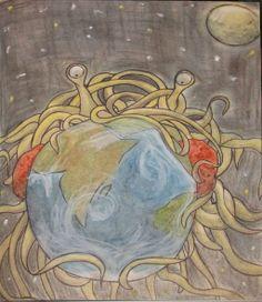 Sketchbook: Flying Spaghetti Monster by Mangoqt.deviantart.com on @deviantART