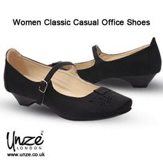 Easy and #comfortable to #wear, this classic #leather #ballet #pump is a must for all occasions. These are #designed to even #meet #workplace #standards with a closed #heel. @Unze Uk