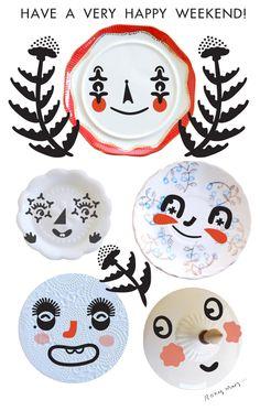 happy faces on plates - ROXY MARJ
