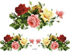 XL MiXeD RoSeS SWaGs ShaBby WaTerSLiDe DeCALs
