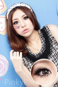 Geo Angel Brown circle lenses