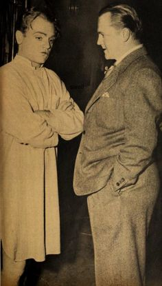 James Cagney with his brother Bill on the set of Johnny Come Lately