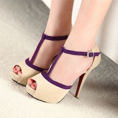 Was für ne geile Seite! Clasp suede with waterproof sets high fish mouth female sandals - $52.00 : Goodinthebox.com store!