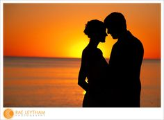 Carillon Beach sunset silhouette