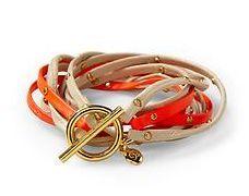 Gorjana Two-Tone Triple Leather Strand Bracelet