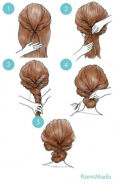 Box braids in braided bun Tied to the front of the head, the braids form a voluminous chignon perfect for an evening look. Box braids in side hair Placed on the shoulder… Continue Reading → Cute Simple Hairstyles, Work Hairstyles, Pretty Hairstyles, Braided Hairstyles, Easy Hairstyle, Casual Hairstyles, Mod's Hair, Hair Arrange, Hair Images