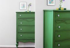 Furniture Makeovers: Green Chest