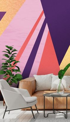 Geometric Wallpaper will add another dimension to your room with various shapes and colours to choose from. These geometric wallpapers are perfect for your interior design projects and are sure to create interest and bring colour to your space. All wallpapers are made to your dimensions and printed onto a selection of high-quality wallpapers including peel and stick wallpaper. Click to see the full collection...! #wallpaper #wallsauce #geometric #geometricprint #wallmurals #accentwall Diy Wallpaper, Peel And Stick Wallpaper, Designer Wallpaper, Contemporary Geometric Wallpaper, Shiplack Walls, High Quality Wallpapers, Blue Wallpapers, Wall Ideas, Wall Murals