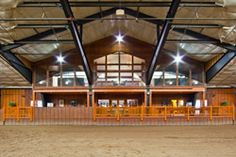 Orion Farms. Indoor arena looking into the viewing room.