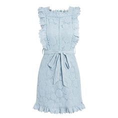 4d8f05abdc Elegant Embroidery Lace Dress Hollow Out Sashes Ruffle White Summer Dr –  #dresscasual #outfits #casualworkfits #dresses #whoslays