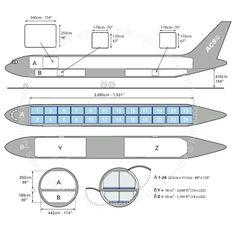 Boeing B767-300F freighter diagram