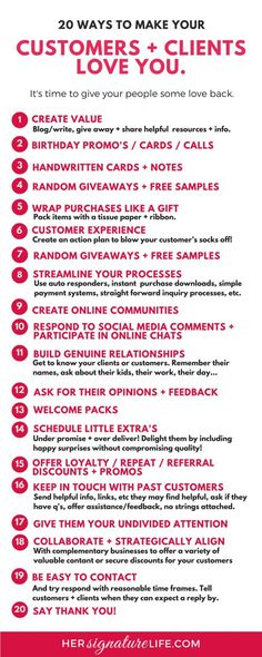 nice Simple, cost and time effective ideas to help thank, delight, and blow the socks...