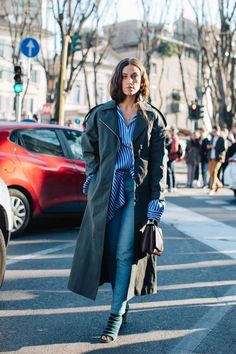 See the best looks seen by Sandra Semburg on the streets of Milan between the shows at Milan Fashion Week Fall/Winter 2017-2018.