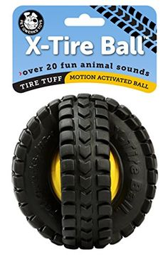 PetQwerks Animal Sounds XTire Ball Dog Toy ** Find out more about the great product at the image link.