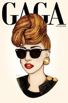 lady gaga 2013 fashion tumblr | Lady Gaga Art By Helen GreenSupex Magazine | Supex Magazine