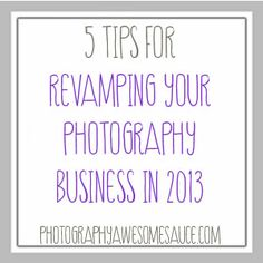 revamp your photography business