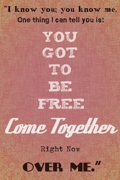 come together - the beatles Beatles Songs, Beatles Quotes, Beatles Lyrics Tattoo, Sound Of Music, Music Love, Music Is Life, Good Song Quotes, Lyric Quotes, Quotes Quotes
