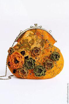 Сумка валяная. В часы заката - сумка,сумка женская,сумка войлочная,сумка войлок
