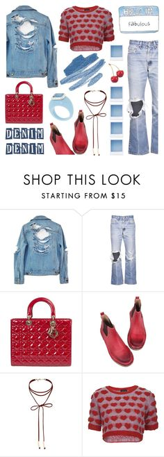 """""""Jean Jacket"""" by deepwinter ❤ liked on Polyvore featuring High Heels Suicide, Levi's, Retrò, Miss Selfridge, Topshop and Jeanjacket"""
