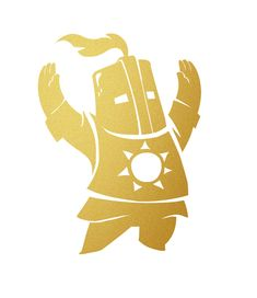 "Dark Souls Solaire of Astora - Praise the Sun - 7"" Metallic Gold Vinyl Decal for Car Window, Laptop & Wall. $11.95, via Etsy."