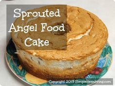 Sprouted Angel Food Cake @ SimpleCleanLiving.com - try subbing 3/4-1C maple syrup or honey (firm honey may need to be thinned by warming it slightly then allowing it to cool) for the sucanat! (Not a big fan of the flavor of sucanat, although it's better than coconut sugar which always tastes burnt to me.)
