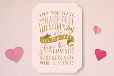 Kisses and Hugs Valentine's Day Cards