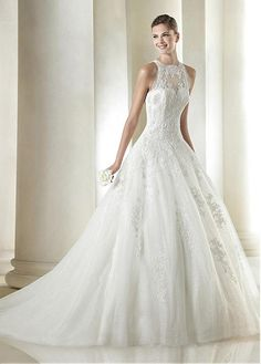 4e8f9d2a904a Buy online Glamorous Tulle Jewel Neckline Natural Waistline Ball Gown  Wedding Dress With Beaded Lace Appliques