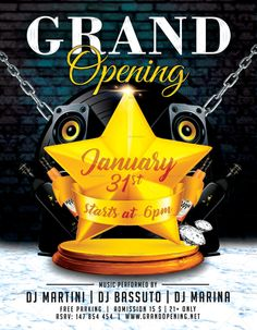 Grand Opening Flyer Template  Grand Opening Flyer Template