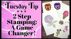 A Game Changer! 2 Step Stamping for Joyous Card Making - YouTube Cardboard Crafts, Paper Crafts, Card Tutorials, Video Tutorials, 2 Step, Game Changer, Pansies, Stampin Up Cards, Birthday Cards