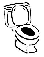 flush toilet / cartoon vector and illustration, hand drawn