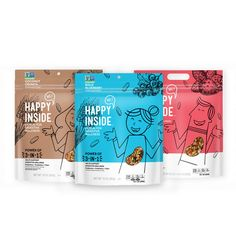 Happy Inside - 'HI! Happy Inside' is a new cereal brand for digestive wellness from Kellogg that delivers products packed with prebiotics, probiotics . Cereal Packaging, Kids Packaging, Biscuits Packaging, Organic Packaging, Tea Packaging, Chocolate Packaging, Food Packaging Design, Packaging Design Inspiration, Brand Packaging