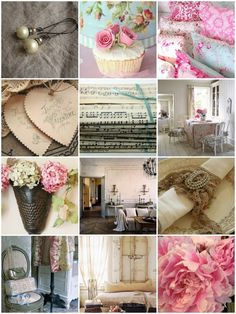 Very pretty pink collage to bring a smile of wellness