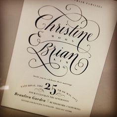 .@Julie Forrest Song   Screenshot of calligraphy invite in progress!   Webstagram - the best Instagram viewer