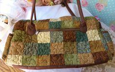 Donna Sharp Purse Quilted Patchwork Purse Handbag by vintagelady7, $19.99