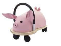 """Wheely Bug- Pig-Say """"oink, oink""""!! Yes, tons of fantastic fun and plenty of freedom come in an adorable package with this multiple award-winning Australian-designed Wheely Bug that will have your kids riding round and round all day long! #toys #forkids"""