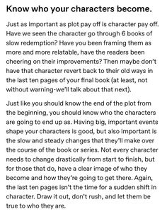 One book or a series, keep your characters true to who they are. Book Writing Tips, Creative Writing Prompts, Writing Words, Writing Quotes, Writing Resources, Writing Help, Writing Skills, Creative Writing Inspiration, Writing Ideas
