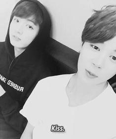 """Jungkook-ah. Kiss. #JIMIN #KookieBirthdayCG #end""  (A/N: CG = congratulations) (2/2)"