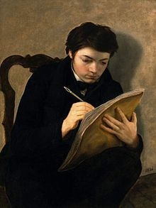 Self Portrait at 18 by Antoine Wiertz on Curiator, the world's biggest collaborative art collection. Academic Art, Digital Museum, Collaborative Art, Art Institute Of Chicago, Gothic Art, Mirror Image, Museum Of Fine Arts, Artist Names, Artist At Work