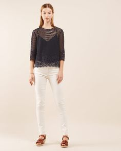 Engineered Floral  Lace Top