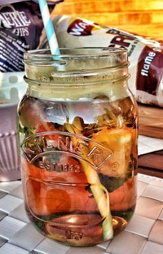 Pimms in a Kilner jar - perfect for a Summers day :)