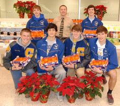 The Chattahoochee High School boys' lacrosse teams partnered with Abbotts Village Publix to pre-sell clementines for the team's biggest fundraiser of the year Dec. 1. Teams of lacrosse players presold Publix clementines and then went door-to-door Saturday, selling poinsettias in neighborhoods around Chattahoochee.